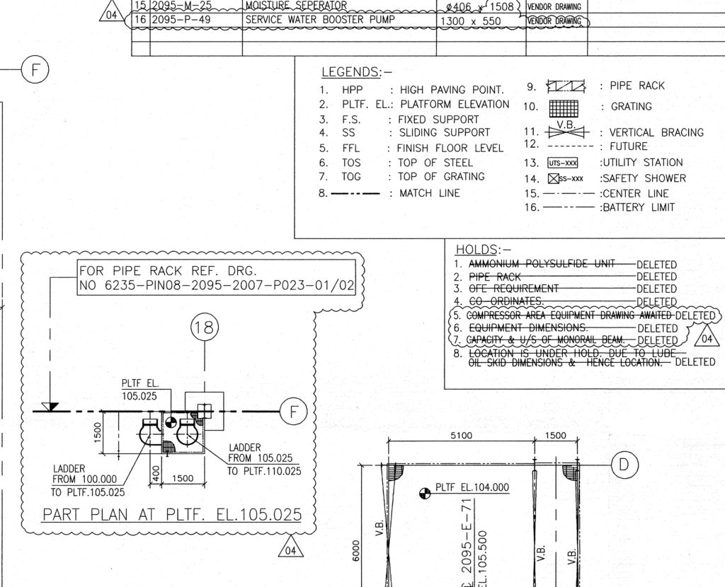 Equipment layout drawing
