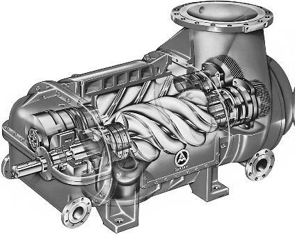 Fig 3: Screw Compressor