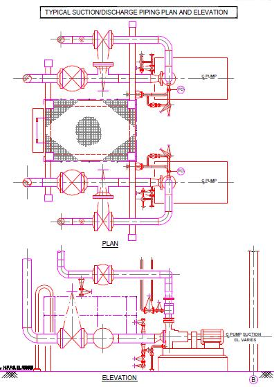 centrifugal pump piping design layout  piping engineering